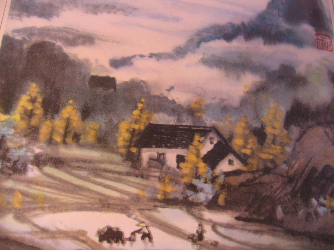 maison, paysage