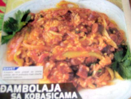 Dambolaja aux saucisses fum es for Cuisine yougoslave