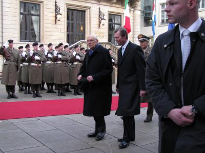 Première journée du Président Napolitano