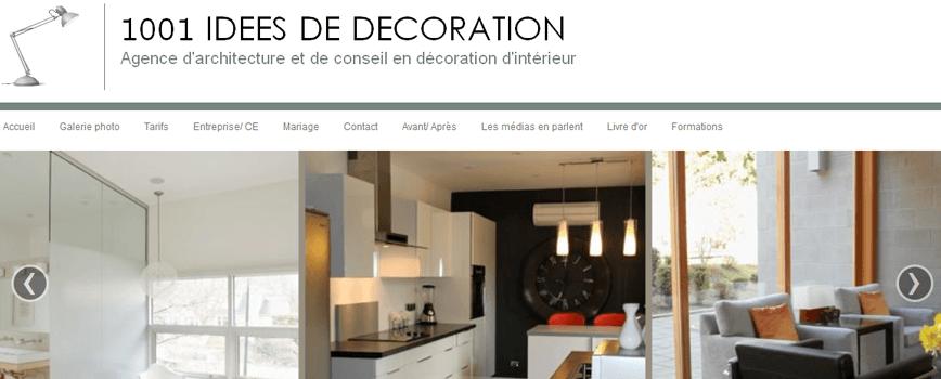 1001 idées de décoration: un site créé sur e-monsite