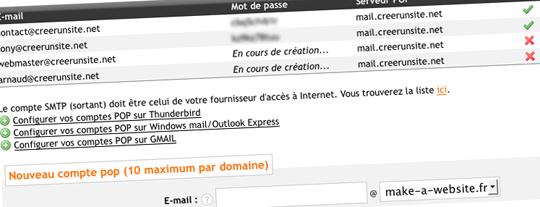 Compte mail avec domaine
