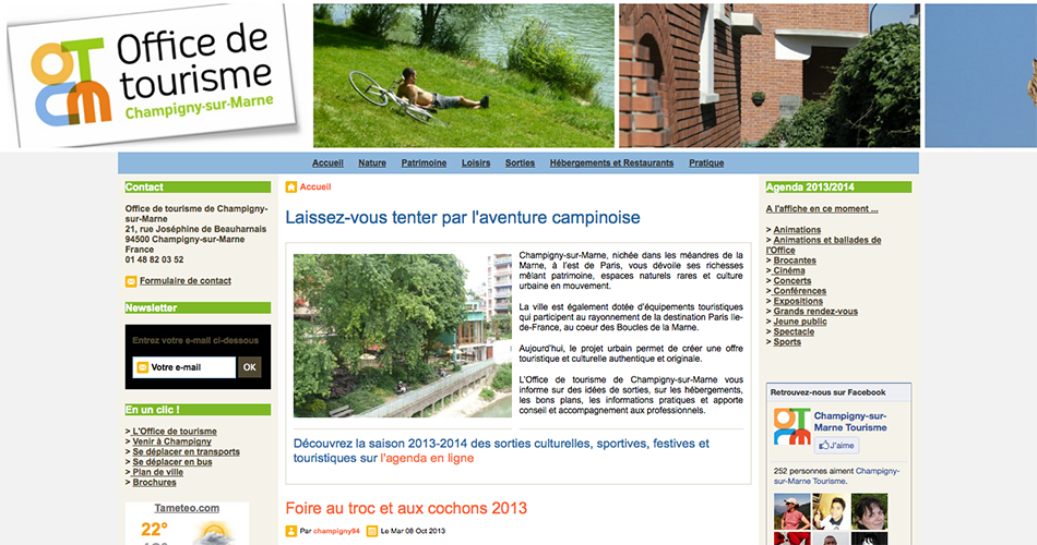 Exemples de sites de collectivit s cr s avec e monsite - Office du tourisme dourdan ...