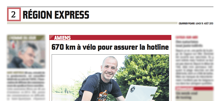 E-monsite dans le Courrier picard