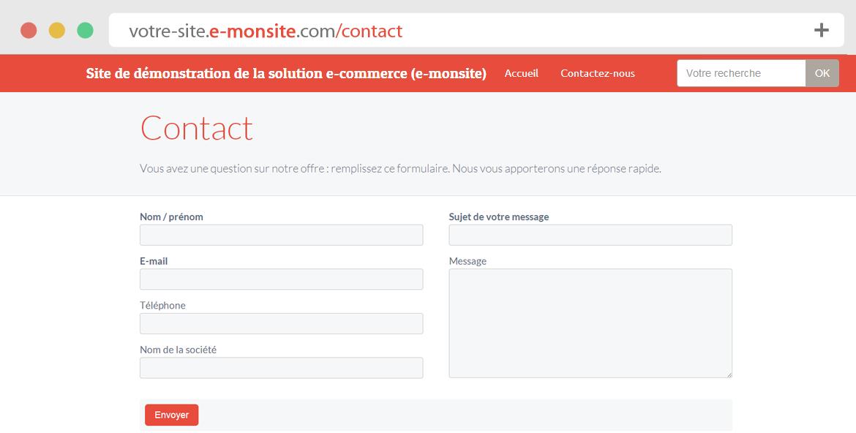 Comment ajouter du contenu sur son site web - Formulaire de contact ...