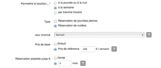 Module de r servation pour son site web g te chambre d for Site de reservation hotel francais