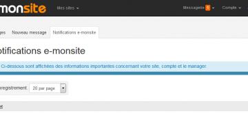 Suivez l'actualité grâce aux notifications e-monsite