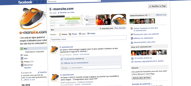page facebook e-monsite