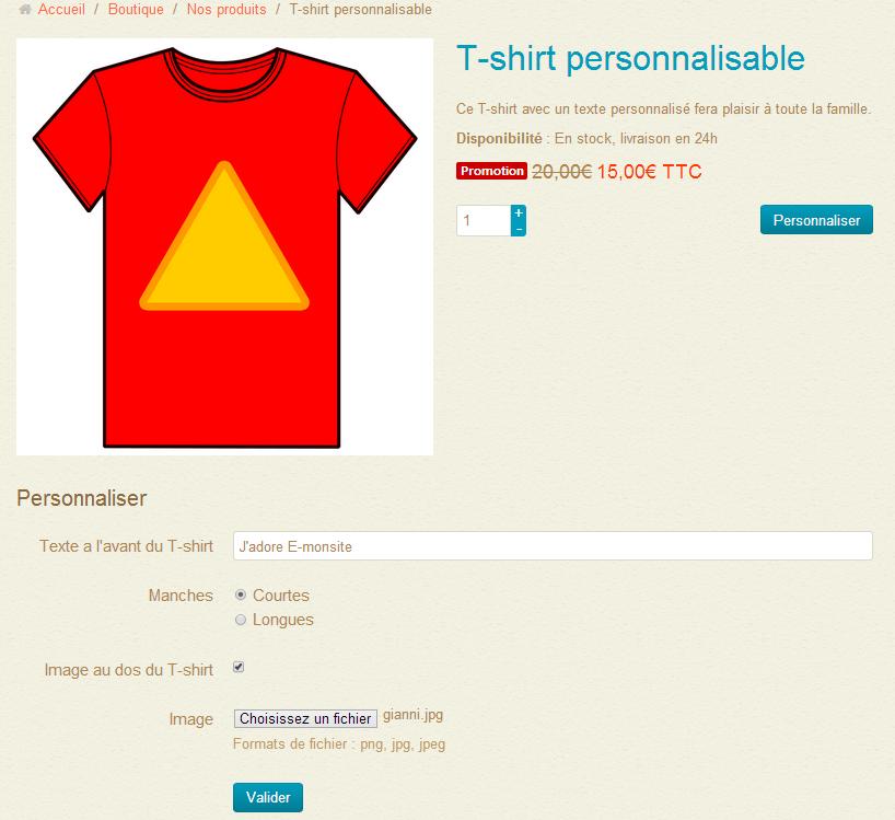 Des produits personnalisables pour votre boutique - T shirt personnalise photo et texte ...