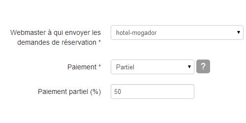 Paiement hotel for Paiement en ligne hotel