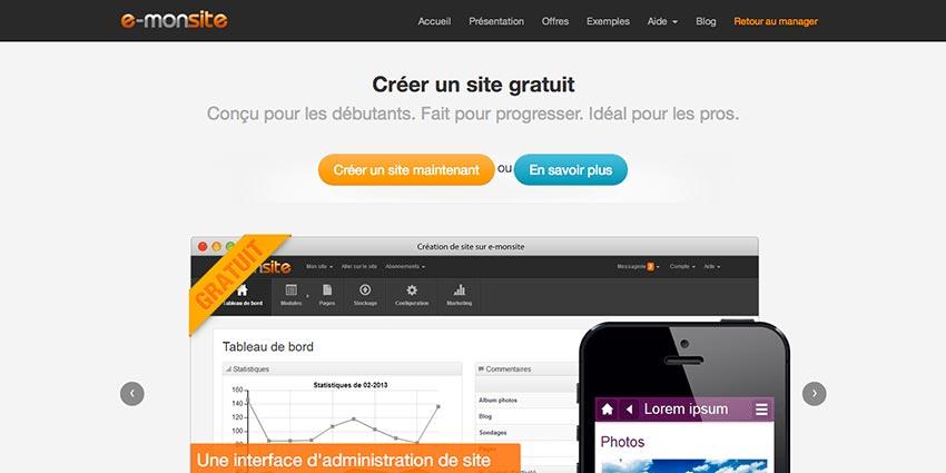 E-monsite : outil de création de site web