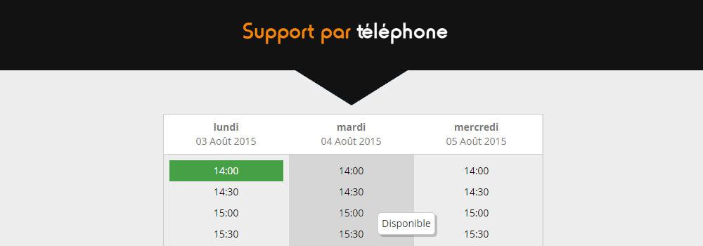 Support telephonique