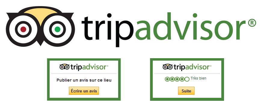 Widget avis sur TripAdvisor