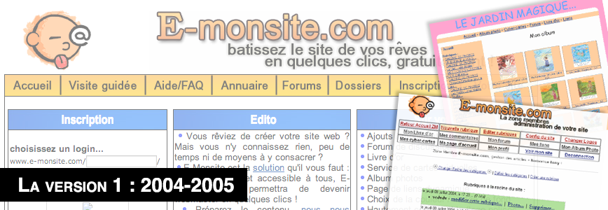 Version 1 de e-monsite