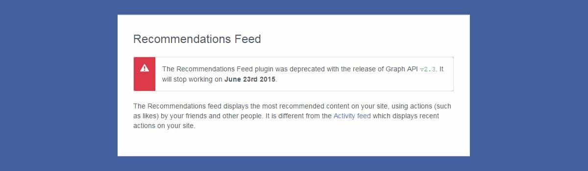 Widget recommandations
