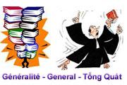 Généralité - Generality - Phổ thông