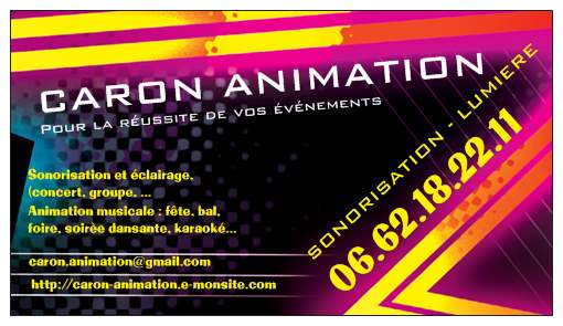CARON ANIMATION PACA Son Lumires Vnementiel 13 83 06 30 84