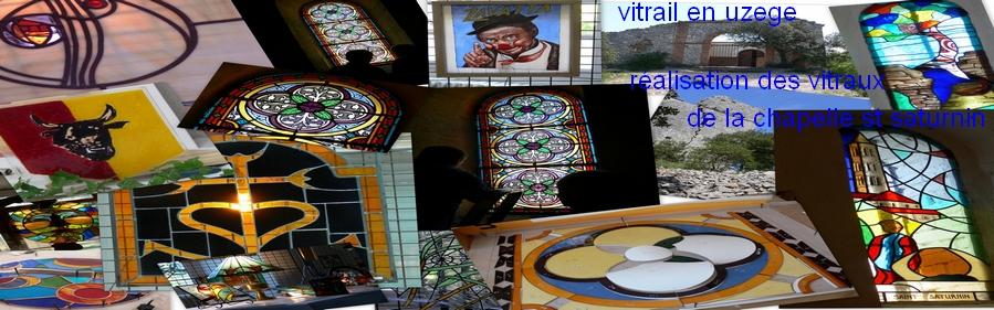 atelier vitrail uzès dans le gard, le vitrail en uzège, vitrail en uzège, cours et stages de vitraux, création de vitraux