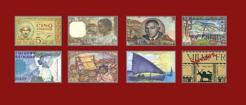 LES BILLETS DE BANQUE DE MADAGASCAR