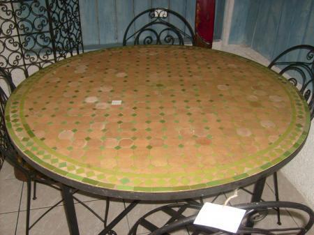 Table Ronde Zellige Pieds
