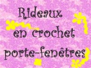 RIDEAUX EN CROCHET  PORTE FENETRE