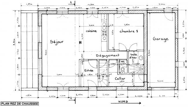 Plan maison architecte for Maison d architecte plan