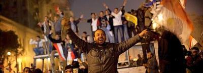 Départ Moubarak :  explosion de joie