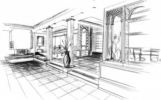 Architecture d 39 interieur design for Architecture dessin interieur