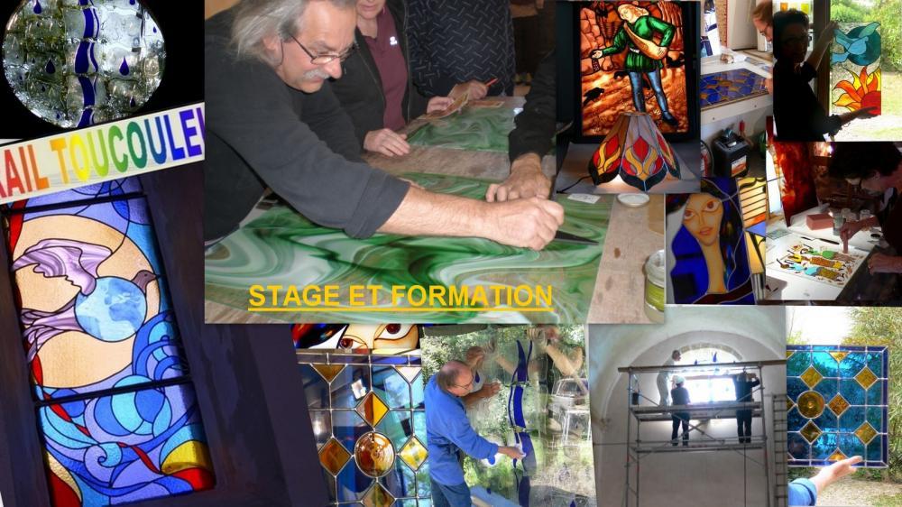 stage de vitraux,stage de vitrail, sud france, gard, uzès ,languedoc roussillon