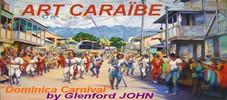 ART CARAÏBE tableaux peinture sur toile acrylique huile caraibes antilles peintres île Dominique Dominica