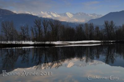 lac de Grésy le 1er janvier 2011