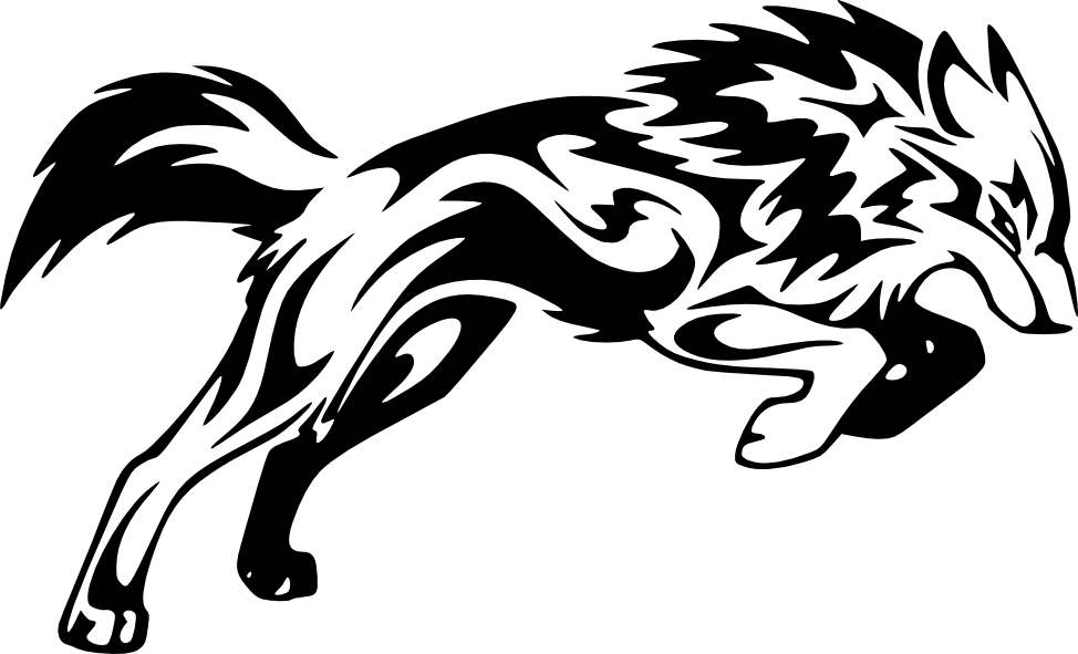Pagine Da Colorare Per Animali Tribali: Wolf Tribal Png