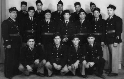 Pompiers Aquafortains en 1957.