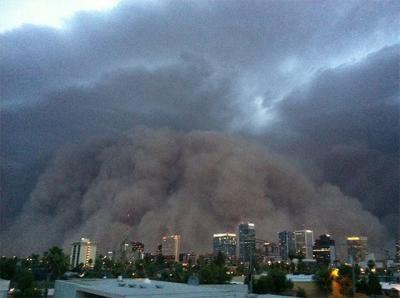 News : Une tempête de sable spectaculaire frappe l'Arizona