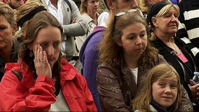 Une minute de silence pour les victimes a Norvège
