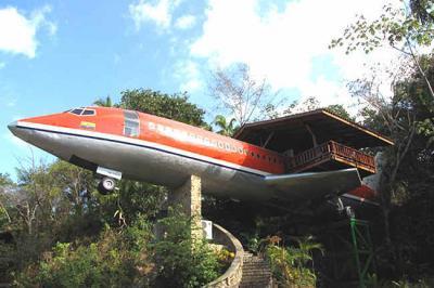 Une maison dans un avion