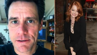 Jim Carrey déclare sa flamme à Emma Stone
