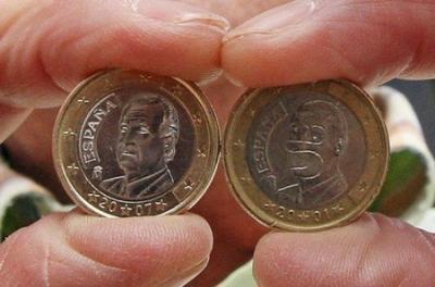 Une pièce d'un euro à l'effigie d'Homer Simpson