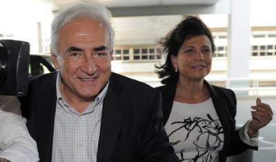 Dominique Strauss-Kahn et Anne Sinclair à Paris