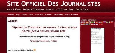 Nouveau : Site Officiel Des Journalistes