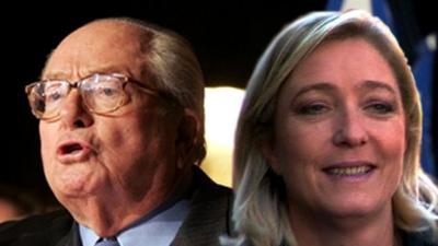 Marine Le Pen appelée à condamner les propos de son père