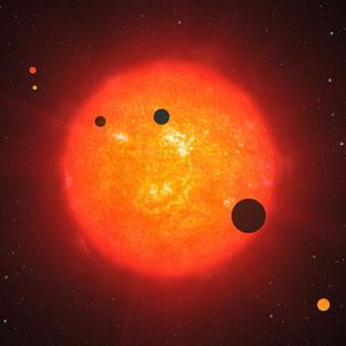Un étrange système planétaire