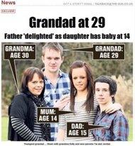 Record le plus jeune Grand père à 29 ans