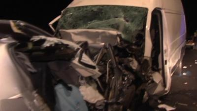 Une voiture à contre-sens l'A9 fait quatre morts