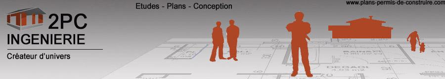 Plans permis de construire de maison individuelle - 2PC Ingénierie - dossier de demande de permis de construire,