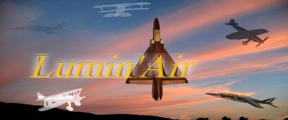 AvionLumin'Air maquettes avion en bois pour passionnés d'aviation