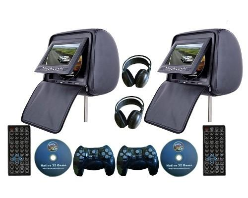 Car headrest tv dvd player