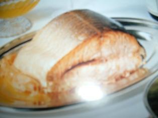 saumon rôti au champagne