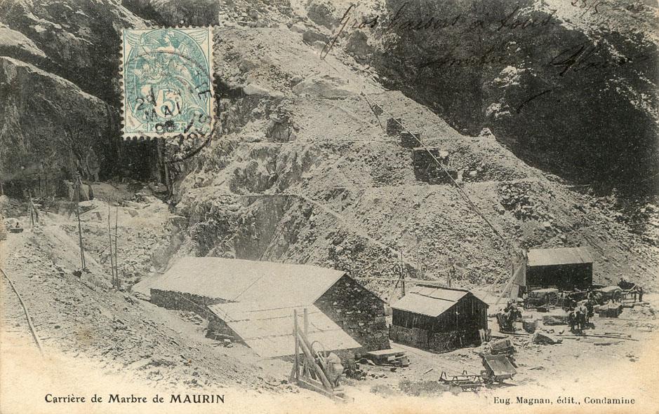 carrière de marbre de Maurin
