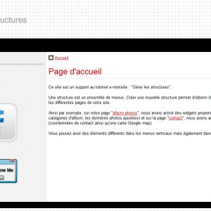 La page d'accueil
