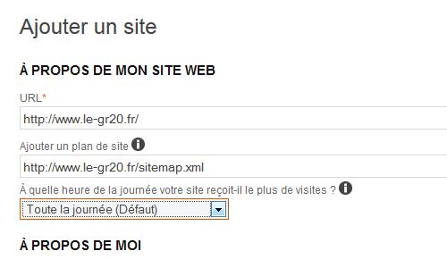 Ajouter un site et le sitemap
